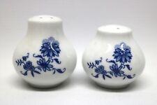 Ilmenau Graf von Henneberg Porzellan Salz & Pfeffer Kobalt Blau Zwiebelmuster