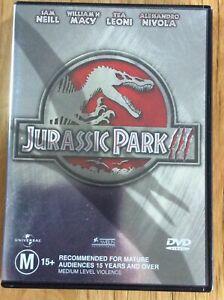 Jurassic Park 3  III - Region 4 DVD - Great Condition - FREE POST
