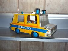Russian police antique tin toy car