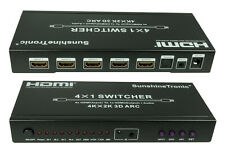 4x1 HDMI Audio-Extraktor, 4x1 HDMI Switcher, 4Kx2K, ARC + 3x 1,5m HDMI gratis#7B