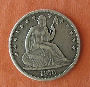 1877-CC ~ Seated Liberty 50c ~ Rare Carson City Mint ~ VF/XF