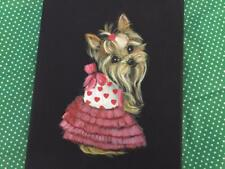 Two Yorkie Original Paintings By Monique