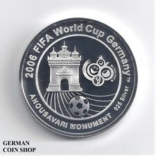 Laos 15000 Kip FIFA World Cup 2006 Silber PP Fußball - Silver proof soccer