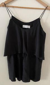 Zimmermann 100% Silk Playsuit Size 0 Black