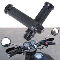 "7/8"" 22mm Hand Grips Handlebar Rubber Gel CNC For Honda Sport Bike Motorcycle"