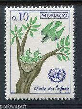MONACO 1963, timbre 600, CHARTE DES ENFANTS, EMBLEME NATIONS UNIES ONU, neuf**
