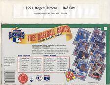 1993 Hostess Box ad Panel:  Griffey, Jr, Mattingly, Clemens, Ripken, etc.