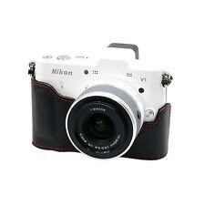 New Synthetic Leather HORUSBENNU Camera Half / Bottom case HC-V1 for Nikon1 V1