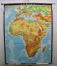 School Wall Map Africa Africa physically 1980 160x199cm Wall Map Card School Card