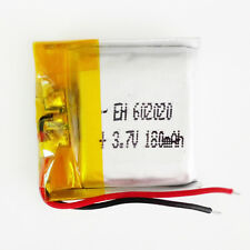 3.7V 180mAh Lipo Polymer rechargeable Battery For MP3 MID bluetooth GPS 602020