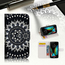 Black AZTEC TRIBAL Wallet Case Cover For ZTE AXON mini --A005