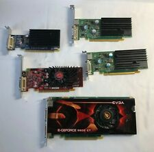 5 Graphics Cards High/Low Profile Used Nvidia, GeForce, VisionTek, PNY