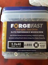 Forgefast - 5x40mm - Elite Performance Pozi Screws - Tub of 800