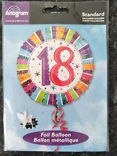Brand New Anagram Eighteen Foil 18 Inch Balloon