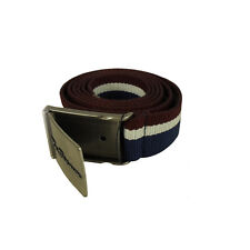 Mens Ben Sherman Canvas King Big Sizes Webbing Hinge Buckle Belt Size 2X - 5X