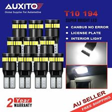 10X AUXITO Canbus T10 W5W 194 168 LED License Plate Parker Wedge Light Globes