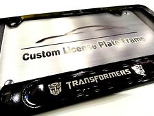 Gloss Black License Plate Frame for TRANSFORMERS Autobots