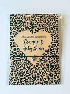 Baby Shower Favour, Hen Party Friendship Wish bracelet Leopard print design