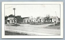 GREENVILLE IL GAS STATION ANTIQUE POSTCARD