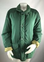 VTG The North Face Brown Tag Medium Coat Puffer Jacket Green Bomber Zip Button
