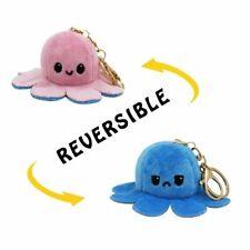 Stuffed Two Sides Plush Reversable Octopus Keyring Bag Pendant Keychain Toy Gift