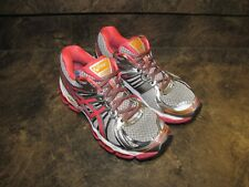 ASICS GEL NIMBUS 15 SILVR ORCHID ORNG WOMENS 7.5 V-NICE V-CLEAN see pics-details