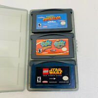 3 Game Lot-Spongebob Squarepants Supersponge,Shrek,Starwars-GBA Gameboy Advance