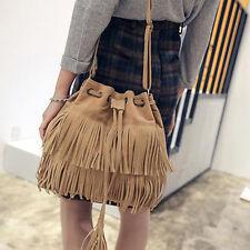 BAG Tasche / Schultertasche / Tragetasche / Handtasche Wildleder-Look FRANSEN