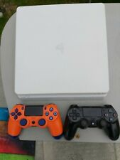 Sony PlayStation 4 PS4 Slim - 500GB - White - 2 Controllers - Fully Working