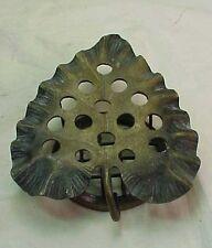 """Antique  1916 DAZEY  LEAF FLORAL FLOWER FROG HOLDER  Metal 5 1/2"""""""