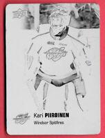 2019-20 Kari Piiroinen Upper Deck CHL 1/1 Printing Plate Rookie - Windsor