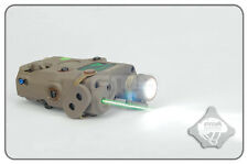 FMA PEQ15 Upgrade LED light + Green laser with IR Functional Aimming Device FDE
