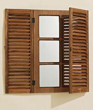 Rechteckige Deko-Spiegel im Landhaus-Stil aus Holz fürs Badezimmer