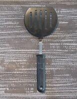 "Vintage Ekco Round Slotted Spatula Flipper Turner 11"" Black Nylon Pancake Wide"