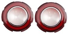 1960 Cadillac Round Backup Light Lens In Bumper 1 Pair