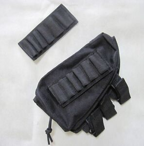 New Rifle Cheek Pad Ammo Pouch Black--Airsoft Game