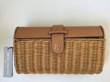NWT FRANCES VALENTINE(Kate Spade) Betsy Wicker Basket Crossbody Bag Natural