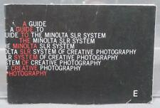 Vintage Minolta Guide To The SLR System Manual