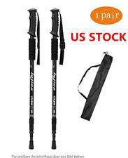 2PCS Trekking Walking Hiking Sticks Poles Adjustable Alpenstock Anti-shock US