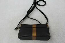 UCA Ruffatti Recycled Rubber Black & Brown Adjustable Strap Clutch
