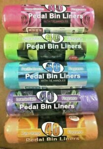 200 Pedal Bin bags Liners Scented 20L Bags Fragrance Refuse Waste Multi Colours