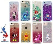 Disney Moving Glitter Liquid Phone Case Cover iPhone 6 7 Plus Mickey Stitch Olaf