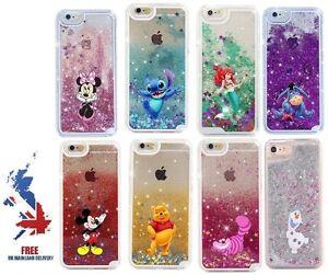 Disney Moving Glitter Liquid Phone Case Cover iPhone 7 8 X 11 12 Pro Max Stitch