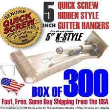 "300 5"" inch Quick Screw Hidden Rain Gutter Bracket Hangers with Clip Heavy Duty"