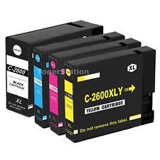 5 Generic Ink PGI2600XL PGI 2600XL B/C/M/Y for Canon Maxify MB5360 IB4060 MB5060