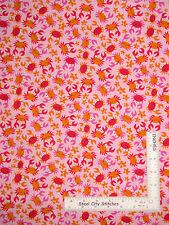 "Crab Star Fish Kids Nautical Pink Cotton Fabric Timeless Treasures C4146 - 25"""