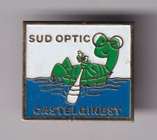 RARE PINS PIN'S .. ANIMAL OPTIQUE AVIRON ROWING TORTUE TURTLE CASTELGINEST 31~D7