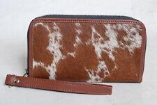 Cowhide Wallet for Women Zip Clutch Purse Clutch Wristlet Wallets  SA-3379