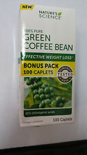 NATURE'S SCIENCE  100% GREEN COFFEE BEAN WEIGHT LOSS 100 CAPLETS