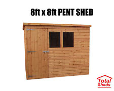 8FT X 8FT PENT GARDEN SHED TOP QUALITY TIMBER